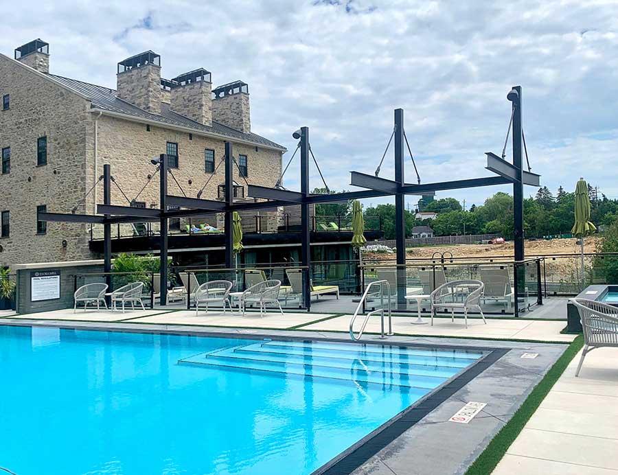 Elora mill hotel & SPA Toronto Canada pietra sinterizzata L'ALTRA PIETRA Duomo Perla 60x90x2cm