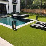 Pavimento in pietra sinterizzata Villetta con piscina Houston