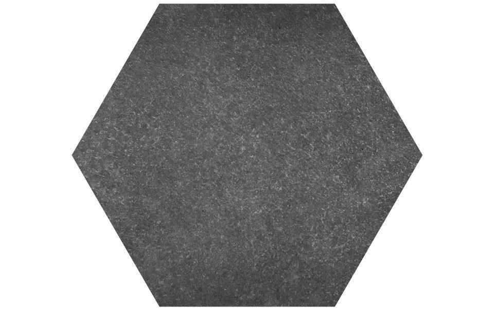 Pietra sinterizzata Stone Gres Esagono Basalto