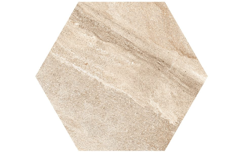Pietra sinterizzata Stone Gres Esagono Cappuccino