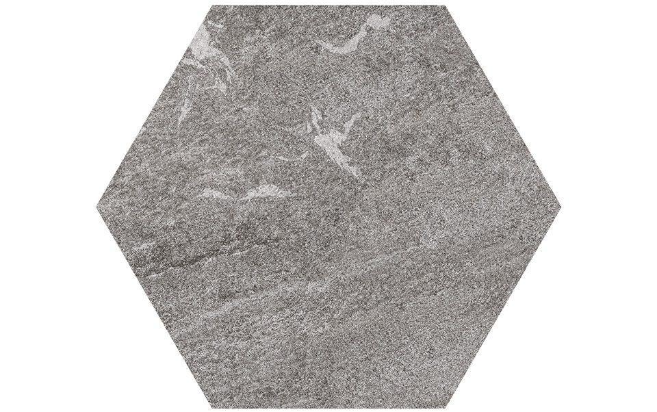Pietra sinterizzata Stone Gres Esagono Grigioni