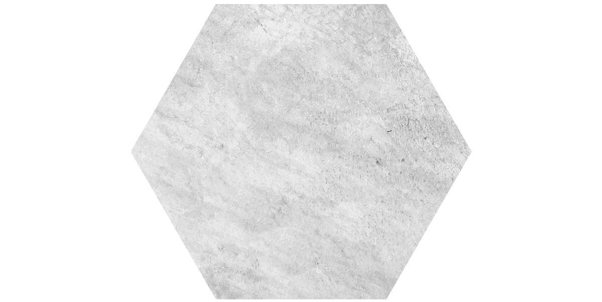 Pietra sinterizzata Stone Gres Esagono Quarzite Bianca