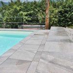 Pavimento in pietra sinterizzata in abitazione privata Bergamo
