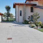 Pavimento in pietra sinterizzata in villetta privata Brescia